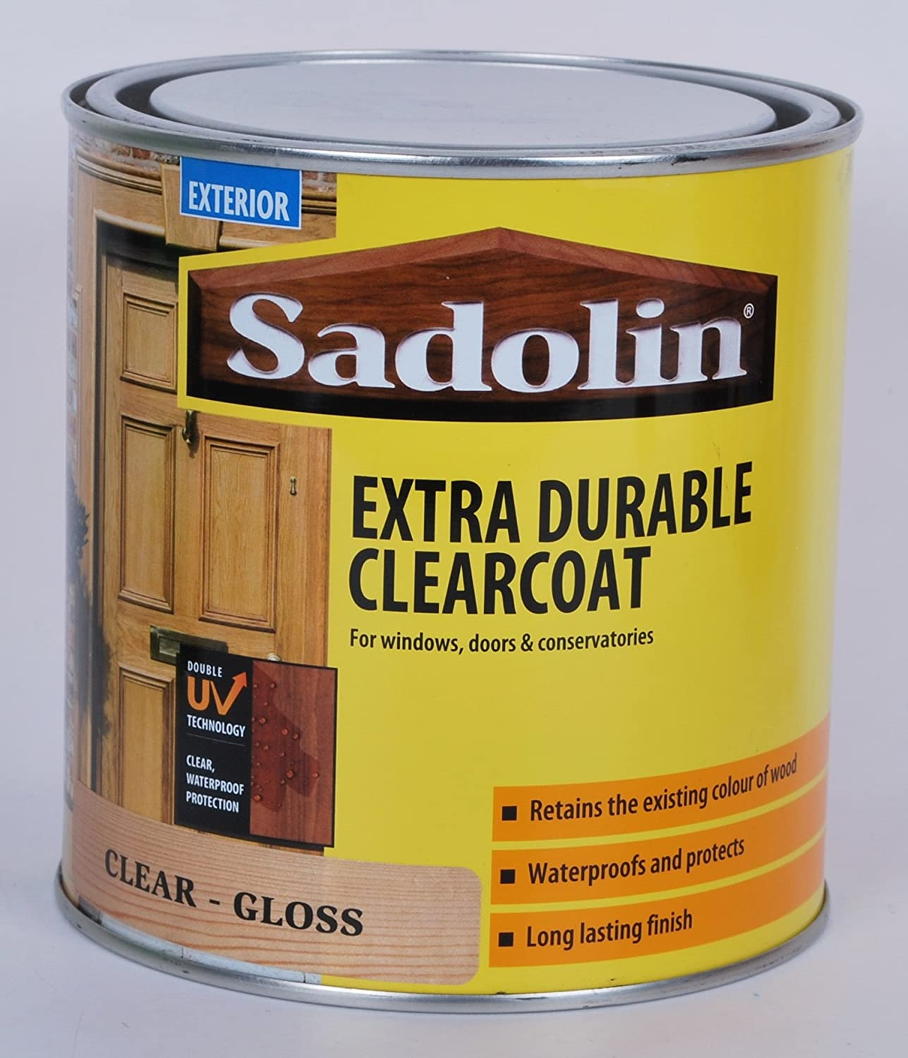 Sadolin Exterior Extra Durable Clearcoat Gloss Varnish 1 Litre  485459 Sadolin Exterior Ultra Base Coat   1L   Ultra Clear  Amazon co uk  . Exterior Clear Coat. Home Design Ideas