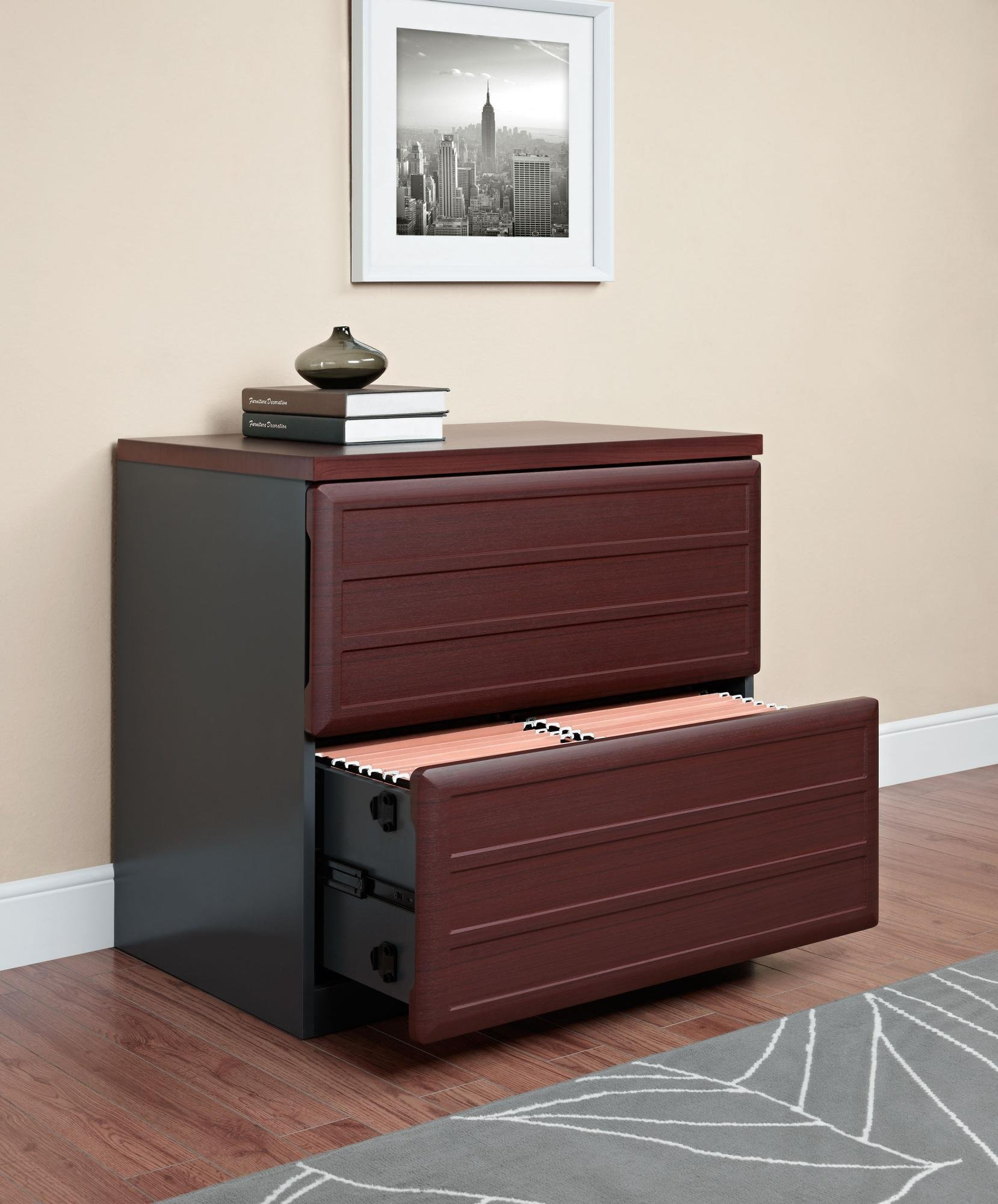 Ameriwood Home Pursuit Lateral File Cabinet, Cherry by Altra Furniture (Image #4)