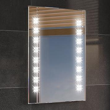 500 x 700 mm illuminated led bathroom mirror backlit light sensor demister ml2101