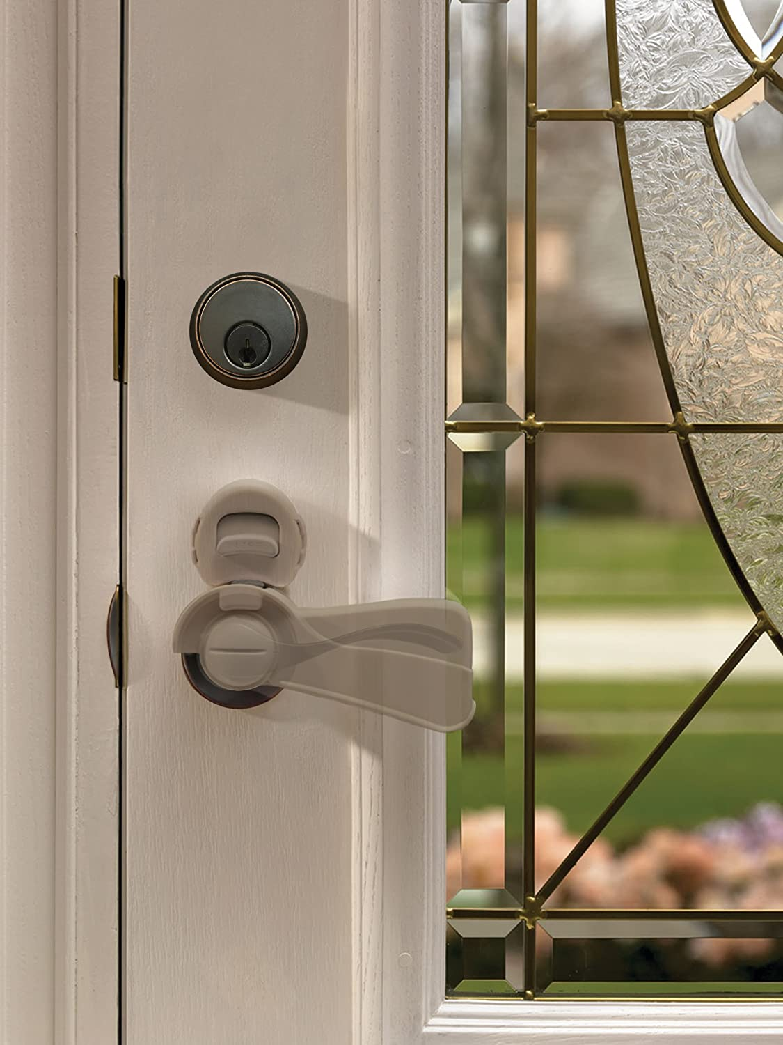 KidCo Door Lever Lock, Clear S358