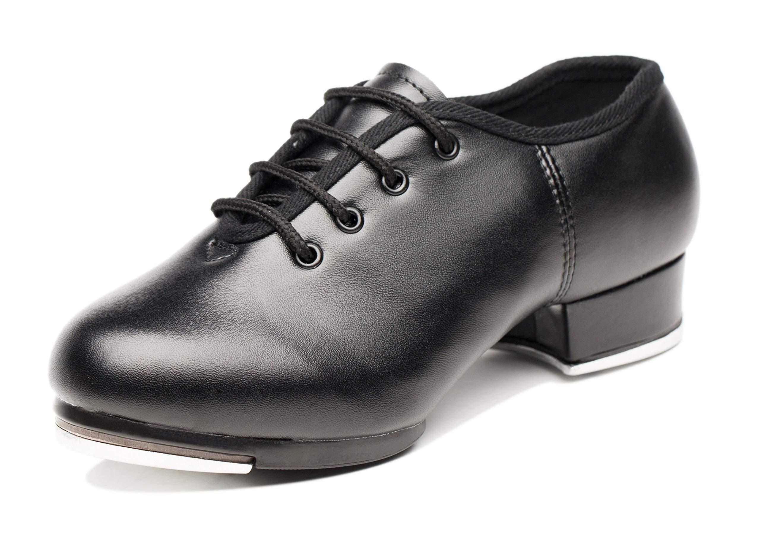 Joocare Child Split Sole Beginner Tap Dance Shoes (Toddler/Little Kid/Big Kid) (13.5M US) Black by Joocare