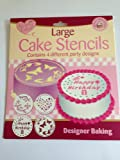 Large Cake Stencils 4 Pack different party designs Happy Birthday 8