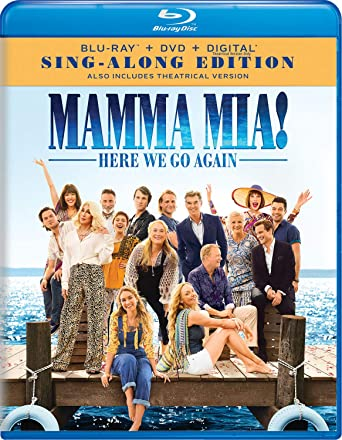 Amazon Com Mamma Mia Here We Go Again Blu Ray Christine Baranski Pierce Brosnan Dominic Cooper Colin Firth Andy Garcia Lily James Amanda Seyfried Stellan Skarsgard Julie Walters Cher Meryl Streep Ol Parker Judy