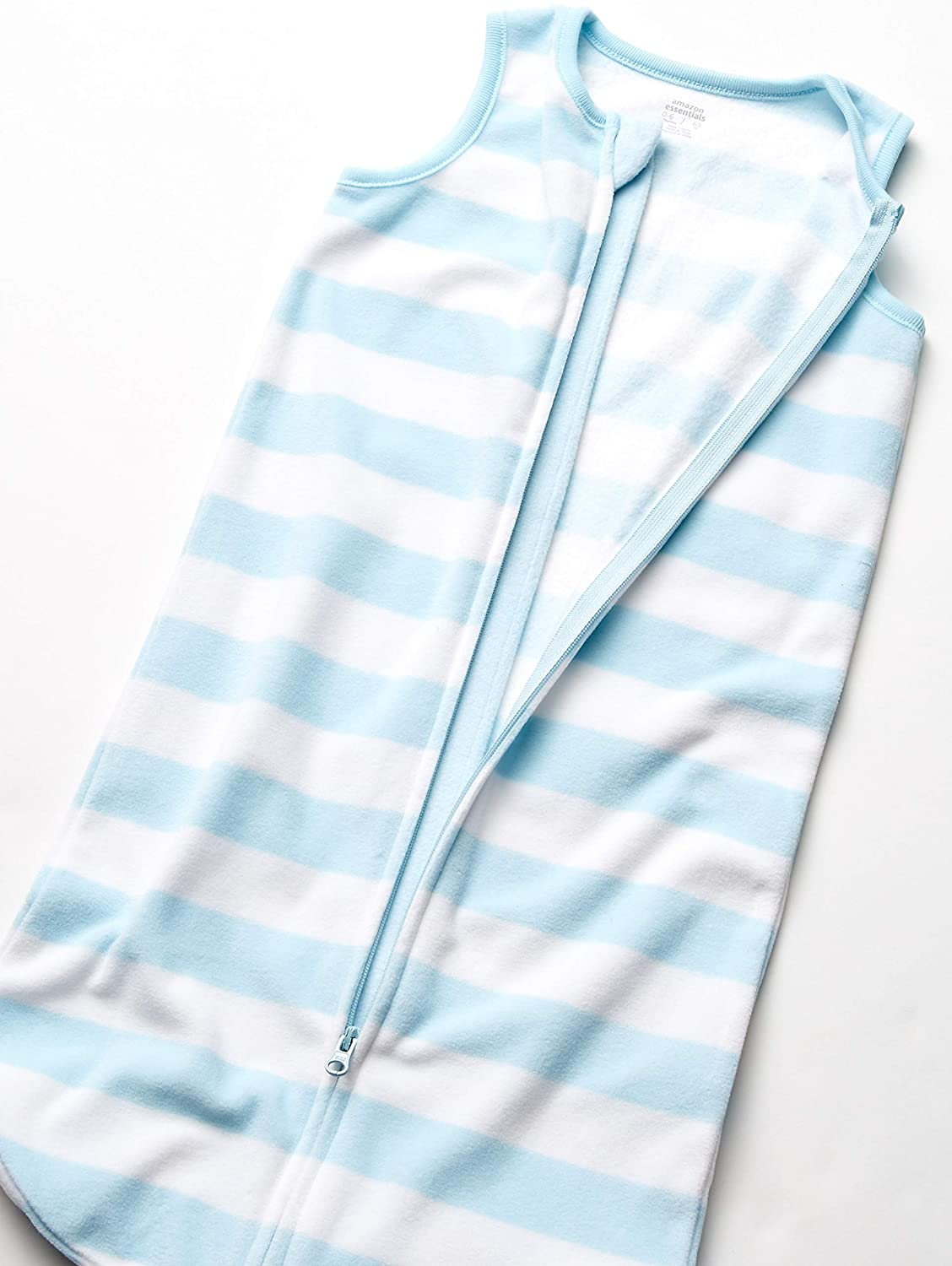 Blue and White Rugby Stripe Taille fabricant: 0-6M , Multicolore Essentials 2-Pack Microfleece Sleep Sack Infant Toddler