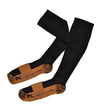 Calcetines de compresión negro – 75% de cobre cable de – Anti Fatiga calcetines para