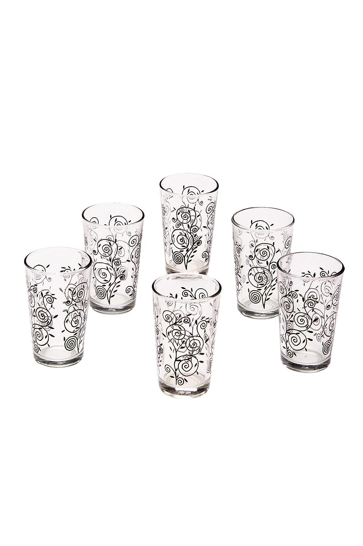 6er SET Orientalische Marokkanische verzierte Teegläser Gläser Deko orientalisch