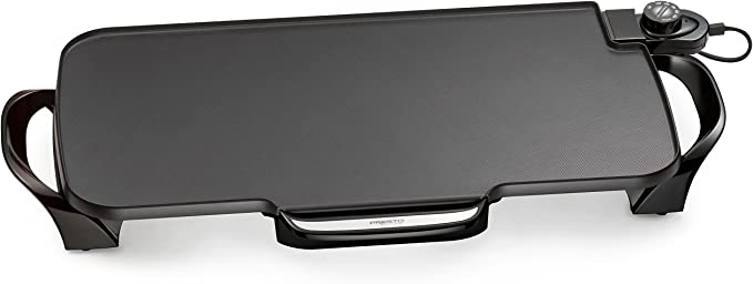 Presto 07061 22-inch Electric Griddle With Removable Handles,Black   Amazon