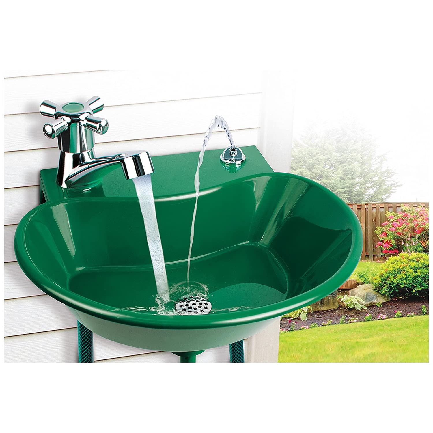 Amazon.com : 2-in-1 Outdoor Water Fountain and Faucet : Garden & Outdoor