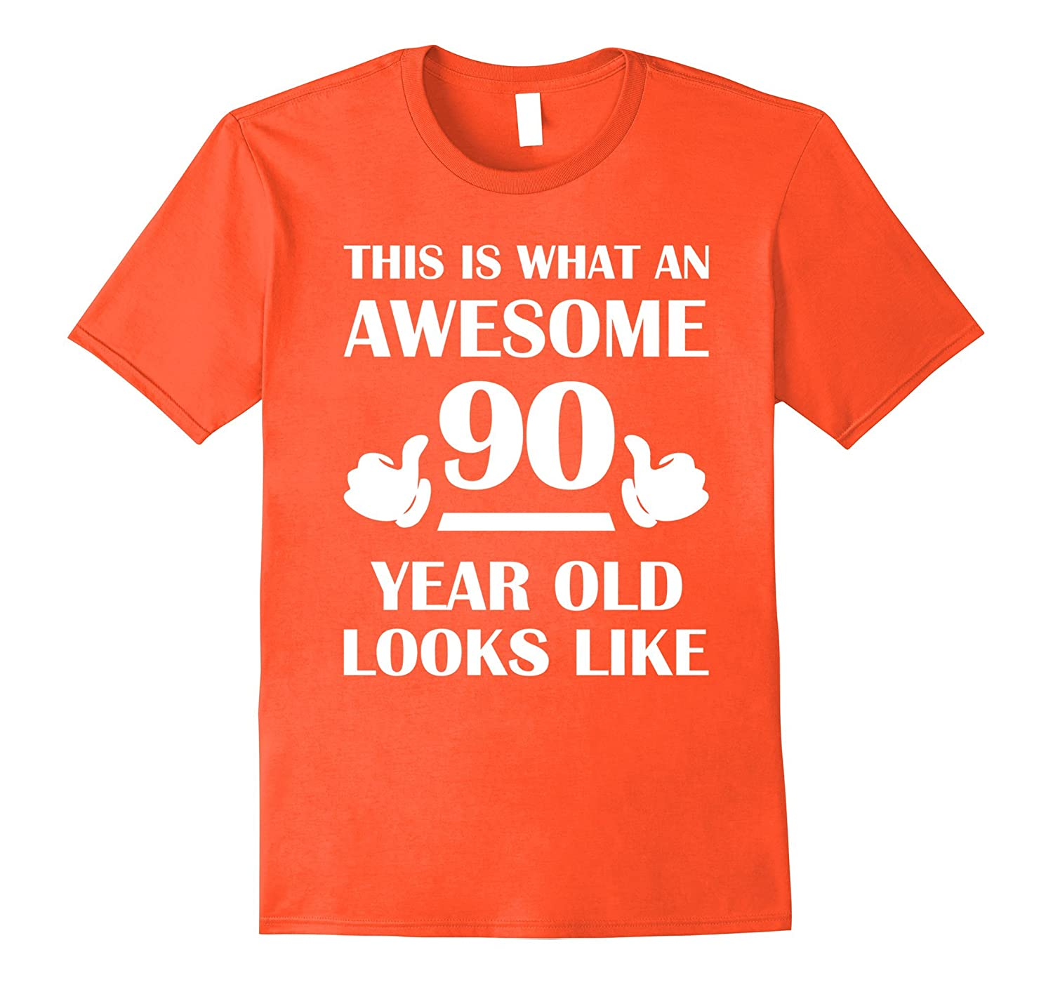90 Year Old Birthday Gifts T Shirts For A Senior Man Woman TH