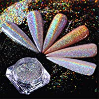 BORN PRETTY Nail Art Holographic Laser Dust Powder Bling Rainbow Chrome Glitter Pigment For Manicure Makeup 0.5G