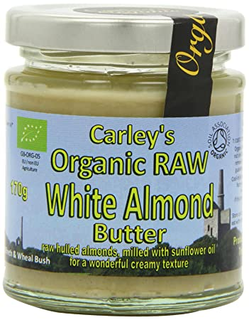 Carleys Raw Organic White Almond Butter 170 g (Pack of 3)