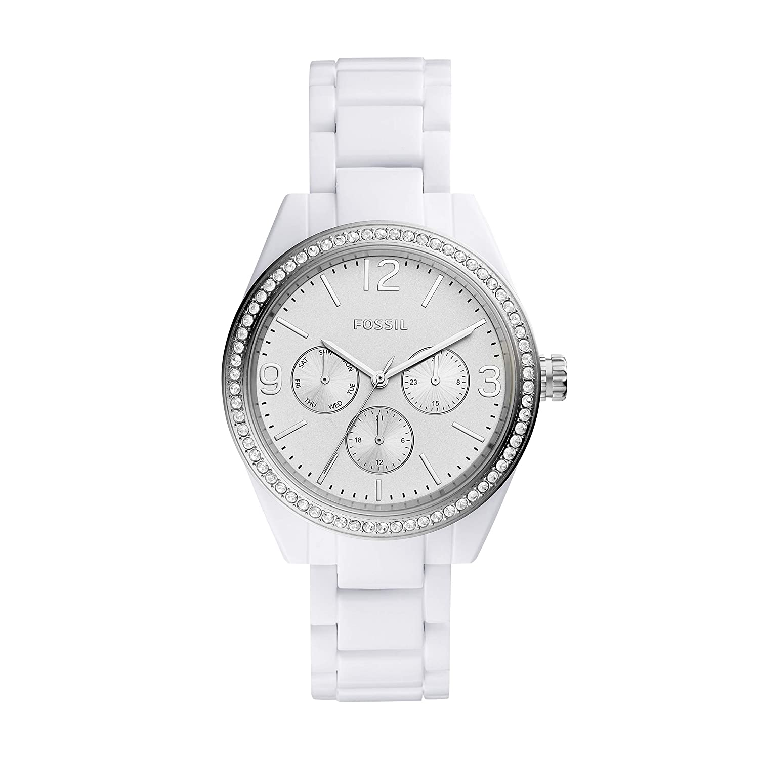 Fossil Women s Caleigh Glitz and Resin Casual Quartz Watch