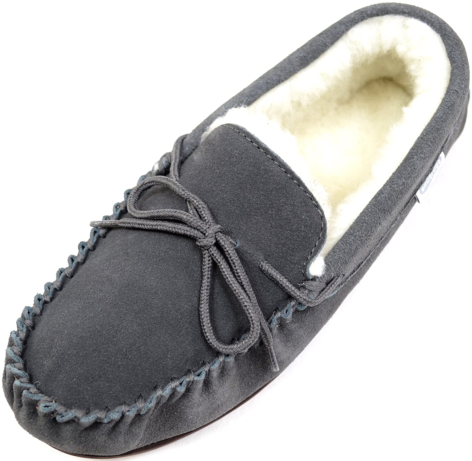 SNUGRUGS Lambswool Suede with Rubber Sole, Chaussons Homme Monty