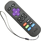 Amaz247 ARCBZB Replacement Remote for Roku 4/3/2/1, (HD, LT, XS, XD); DO NOT Support Roku Stick or Roku TV; 2nd Generation - Metal Dome Technology (6-Shortcuts Black)