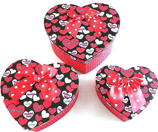 Cajas San Valentín Vacías Grandes Regalos Lazos Corazón (CORAZONES ...