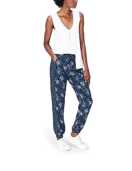 FIND Floral Pantalon Femme 9d99d7a69ce