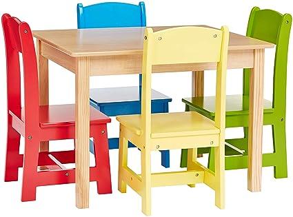 Phoenix Home Kid Table U0026 Chair, 26u0026quot;x22u0026quot;x19u0026quot; 10u0026quot;x10u0026quot