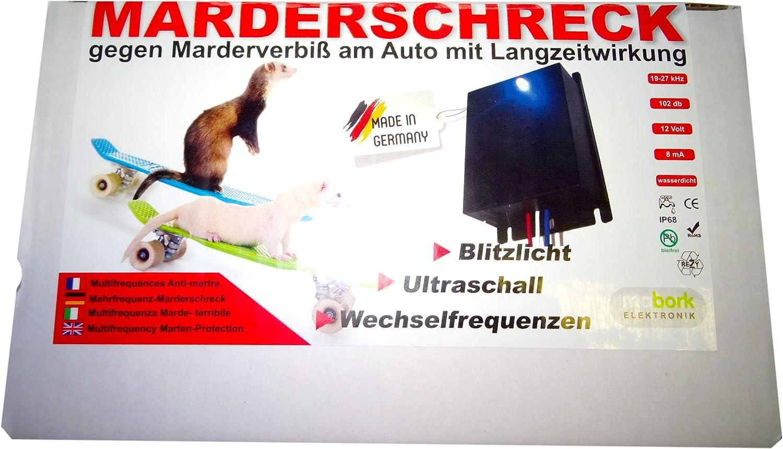 Marderschreck EM2010 Ultraschall und Blitzlicht KFZ Marderabwehr mit Langzeitwirkung Mabork Elektronik