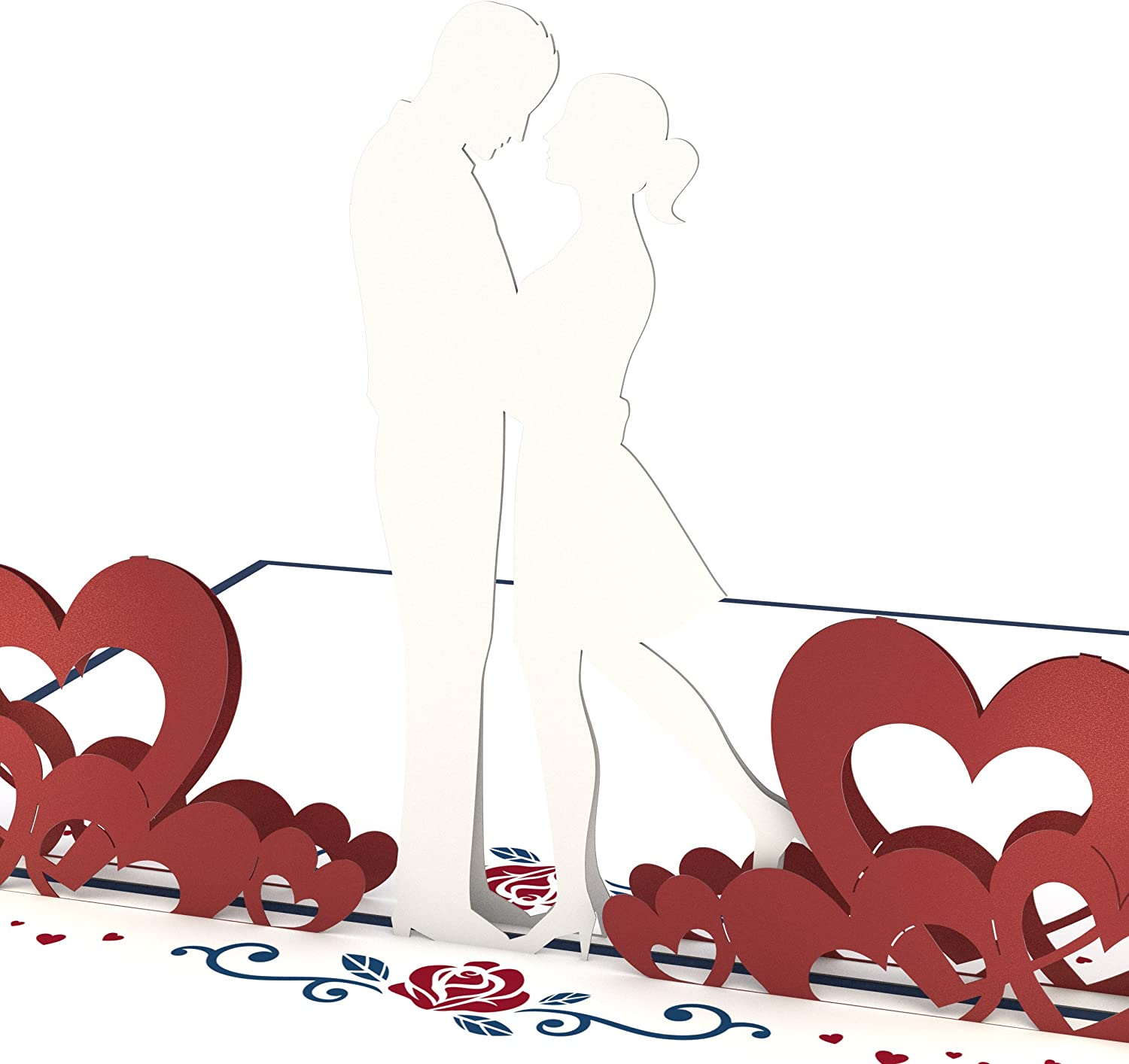 Lovepop Couple in Love Pop Up Card - 3D Card, Valentine's Day Card, Greeting Card, Romance Card, Couple Card, Wedding Card