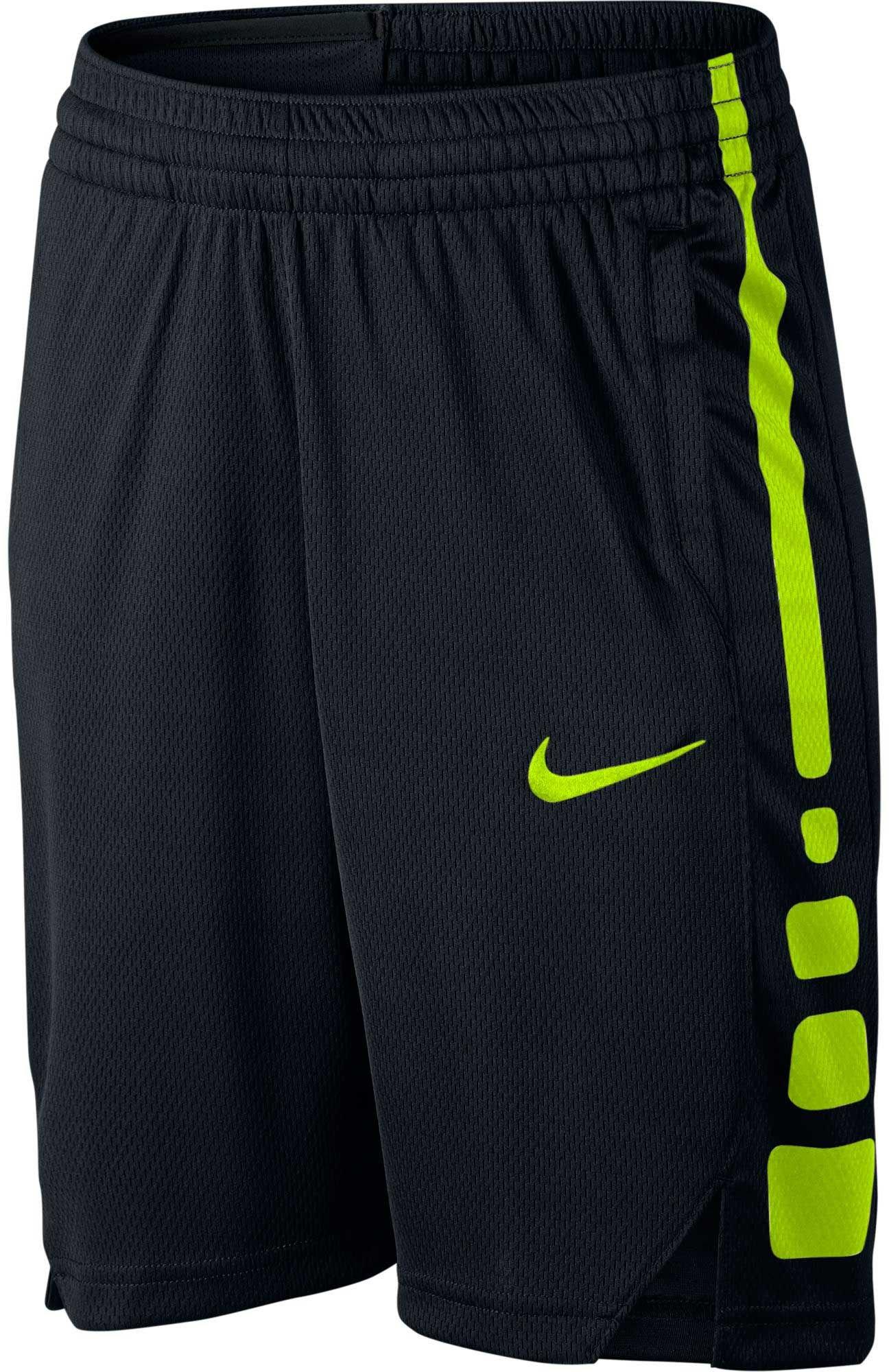 NIKE Boy's Dry Basketball Short (Black/Volt, Small)