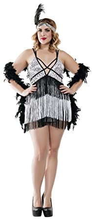 Starline Women\'s Plus Size Boardwalk Flapper Roaring 20s Costume Set