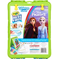 Crayola Color Wonder Travel Easel Frozen 2 Pages with Bonus Pages, Markers and Color Wonder Paint Coloring Travel Books and Easel 61 Piece MEGA Set