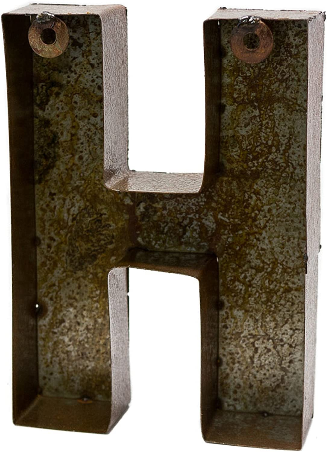 """Cast Iron Industrial LETTER H Sign Rustic Brown 5/"""" tall Alphabet"""