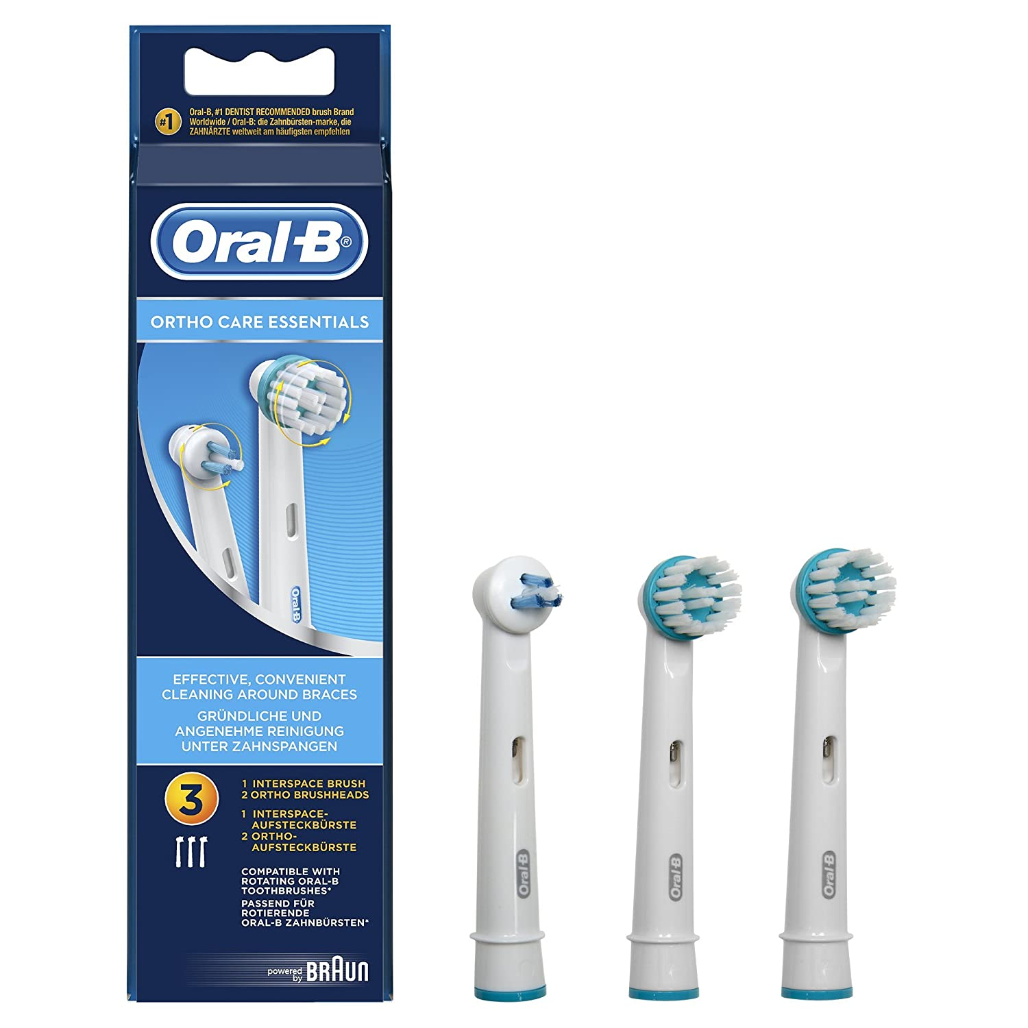 Oral b testine di ricambio ortho care essential kit 3 for Oral b porta testine