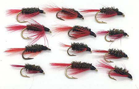 Fly Fishing RED TAILED DIAWL BACH Nymphs Size 10-14 Pack #113