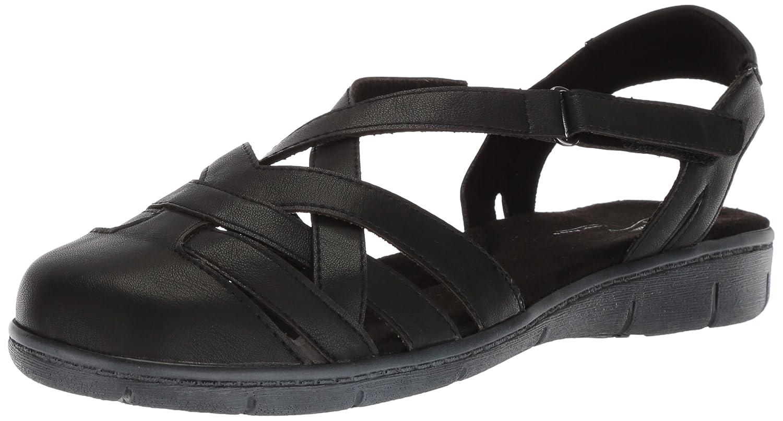 Easy Street Women's Garrett Flat Sandal B077ZL6T2Q 8 W US Black
