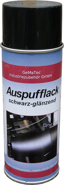 Gematec Auspufflack Schwarz Glänzend 400ml Dose Bis 850 C Auto