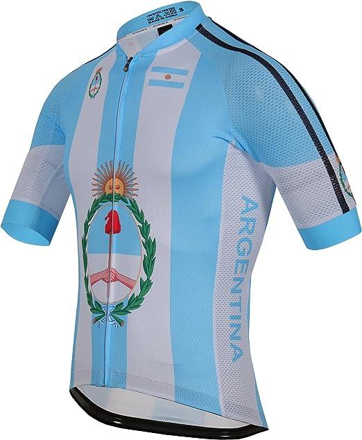 zm Argentina Maillot Ciclismo Mangas Cortas, Camiseta de Ciclistas ...