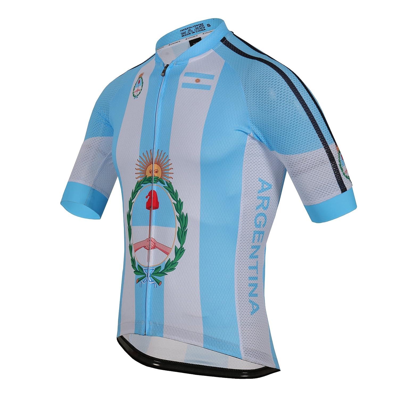 zm Argentina Maillot Ciclismo Mangas Cortas, Camiseta de Ciclistas, Ropa Ciclismo: Amazon.es: Deportes y aire libre