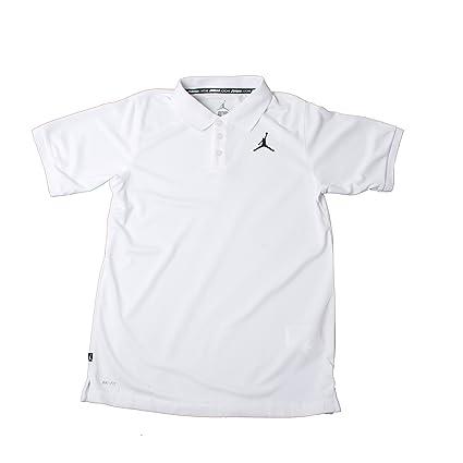 cb292dbb0a3 Amazon.com : Nike Air Jordan Boy's Youth Solid Dri Fit Polo Shirt : Sports  & Outdoors