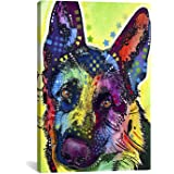 iCanvasART German Shepherd Canvas Art Print by Dean Russo, 18 by 12-Inch