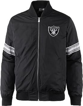 besser beste Sammlung modernes Design New Era Oakland Raiders Team Apparel NFL Bomber Jacke Black ...