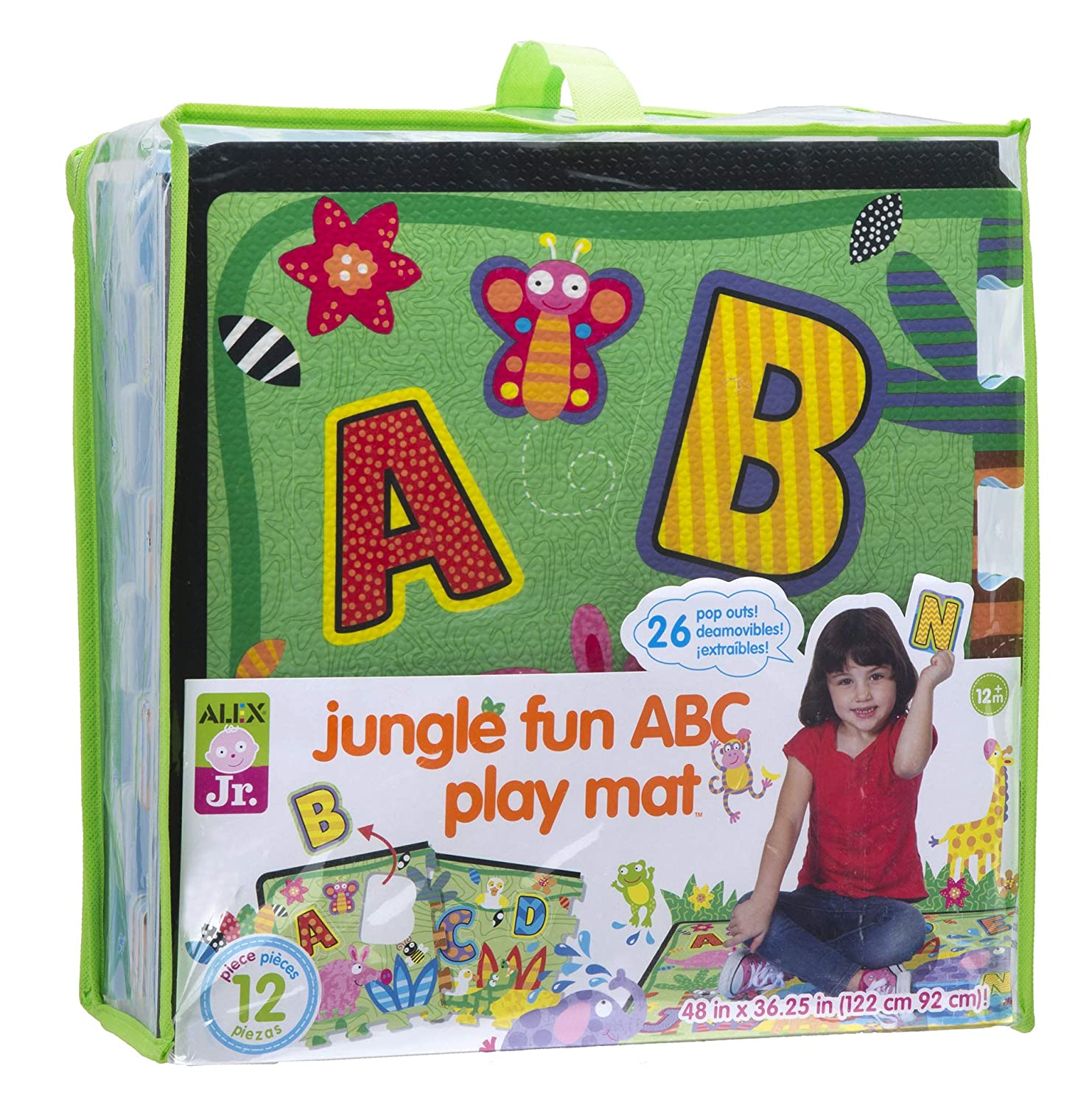 アレックスJr。Jungle Fun ABC Play Mat   B00RHGGCE8