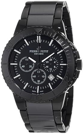 Pierre Petit Colmar - Reloj cronógrafo de caballero de cuarzo con correa de cerámica multicolor (cronómetro): Amazon.es: Relojes
