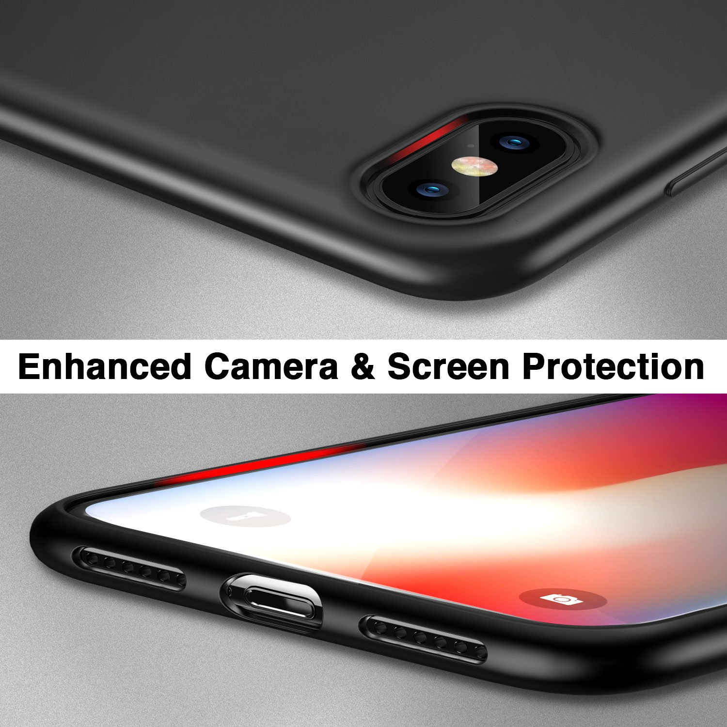 for Apple iPhone Xs Slim Fit // iPhone X iPhone X Case Clear Soft TPU Protective Cover 2017 Anti-Scratch 0.98mm Thin 2018 iPhone 10 Case, ESR iPhone Xs Case - Clear