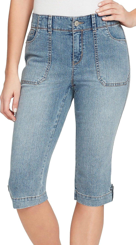 32445cd9bf949 Amazon.com  Gloria Vanderbilt Petite Bianca Denim Skimmer Capris  Clothing