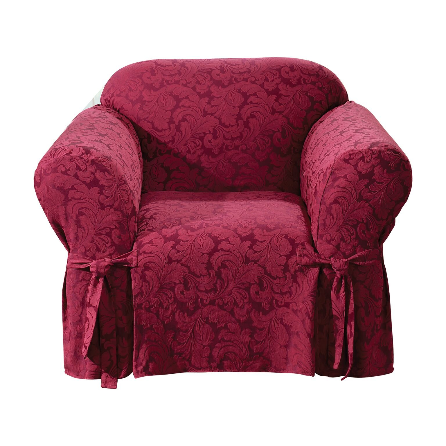 Sure Fit SF24988 Scroll Chair 1 Piece Slipcover, Burgundy