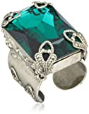 "Sorrelli ""Emerald City"" Large Cut Crystal Adjustable Ring, Size 7-9"