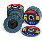 WORKPRO 20-Pack Flap Discs, 4-1/2-inch, Arbor Size 7/8-inch, T29 Zirconia Abrasive Grinding Wheel and Flap Sanding Disc…