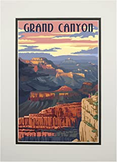 product image for Grand Canyon National Park, Arizona - Sunset View (11x14 Double-Matted Art Print, Wall Decor Ready to Frame)