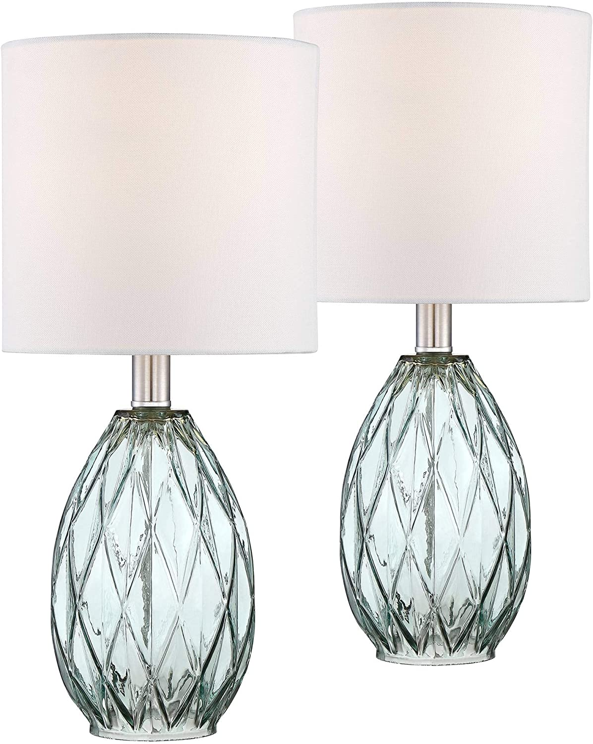 Rita Blue-Green Glass Accent Table Lamp Set of 2-360 Lighting