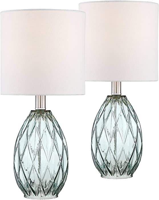 Rita Blue-Green Glass Accent Table Lamp Set of 2-360 Lighting