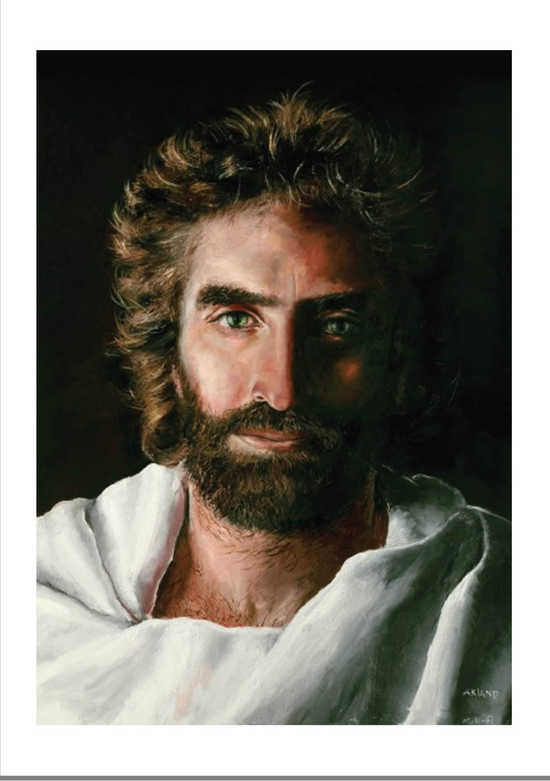 Prince of Peace 9'' x 12'' Fine Art Canvas Giclee with Jesus Featured As Verified By Colton Burpo in Heaven Is for Real Book and Movie