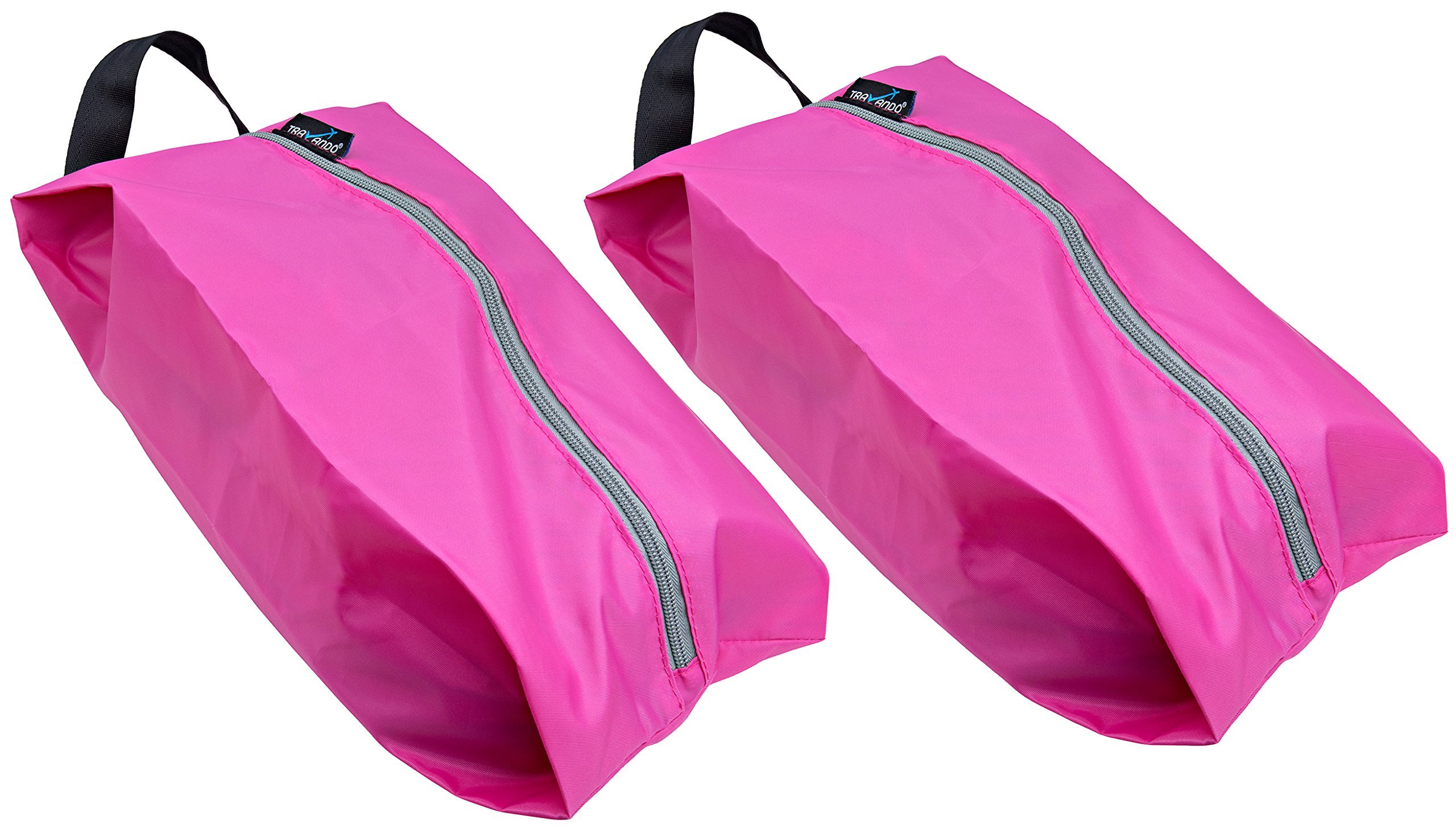 TRAVANDO Shoe Bag Set of 2 | Travel Accessories Essentials Travel Organizers Packing Cubes Suitcase Luggage Bags for Shoes