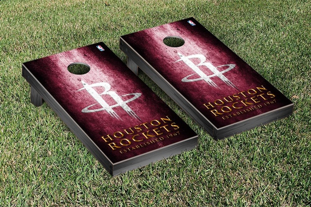 Houston Rockets NBA Basketball Regulation Cornhole Game Set Museum Version