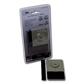Minder 125dB Ultra Thin Ventana y alarma de puerta - con Sensor magnético Detector de vibraciones y - día/noche Sensor de timbre y entrada con timbre 95dB: ...